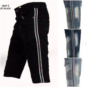 Other - New Mens Stripe Denim Biker Shorts 30 to 44
